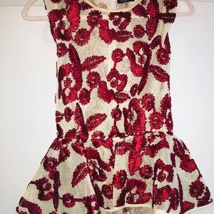Chic Women' peplum holiday floral top